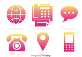 Ícones de Gradação de Telefone vetor