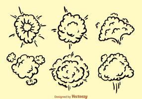 Explosão da nuvem de poeira vetor