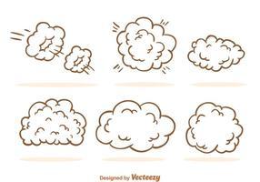 Desenhos animados da nuvem de poeira vetor
