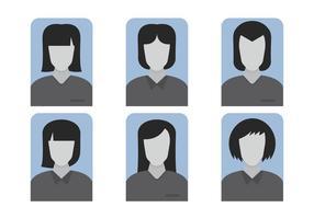Vetores padrão feminino do avatar