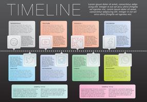 Vetor de infografia da linha do tempo