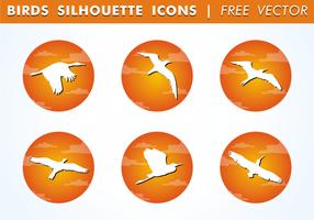 Ícones de silhueta de pássaro vetor livre