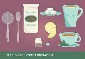 Ilustração do vetor dos elementos do chá