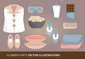 Ilustração do vetor da festa do pijama