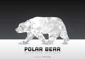 Vector de Urso Polar Livre de Polígono