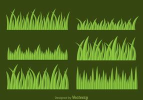 Conjunto de vetores de grama
