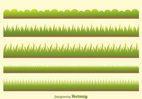 Vetor grama verde no campo