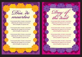 Cartões do dia dos mortos