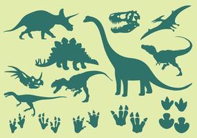 Ícones de dinossauro vetor