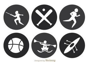 Ícones do círculo esportivo vetor