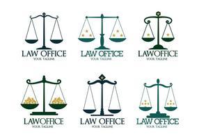 Vetores do logotipo do escritório de advocacia