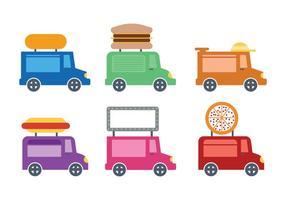 Ícone de caminhão de comida fofa vectro vetor
