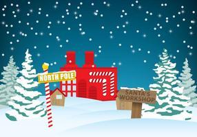 Santas workshop vector