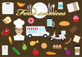 Serviços alimentícios vetor