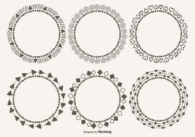 Conjunto de quadros decorativos fofos vetor