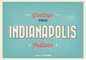 Ilustração de saudação retro de Indianapolis vetor