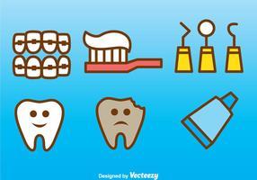 Ícones dentários vetoriais vetor