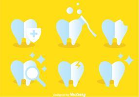 Ícones Cuidados com os dentes vetor