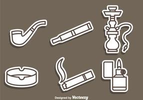 Ícones do Esquema de Fumo vetor