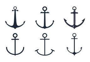 Conjunto de ícones de âncora vetor