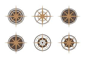 Conjunto de ícones da bússola