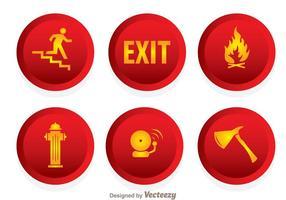 Ícones de emergência de fogo vetor