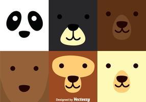 Urso quadrado vetor