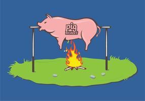 Vinho assado por porco vetor