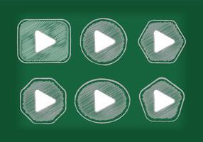 Vetores do ícone do botão de reprodução