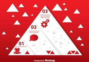 Gráfico da pirâmide branca vetor