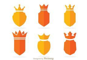 Vetores de coroa e escudo