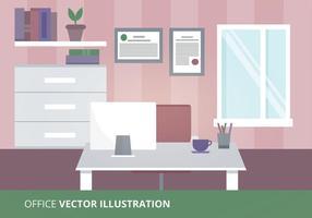 Ilustração vetorial do escritório vetor