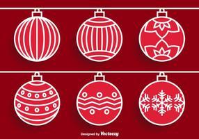 Vetores ornamento de natal