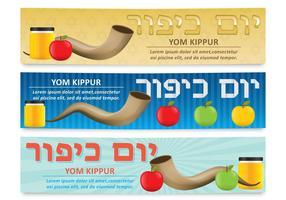 Banners de Yom Kippur vetor