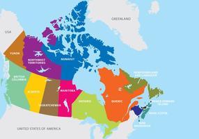 Mapa de Canadá vetor