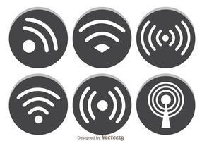 Símbolo cinza Wifi vetor