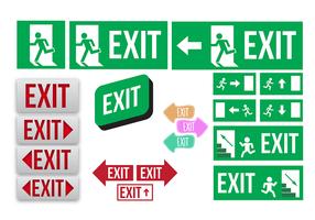 Vector de coleção de registro de saída de emergência grátis