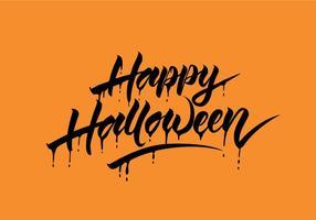 Feliz Halloween Vector Caligrafia