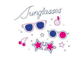 Vector de óculos de sol grátis
