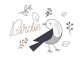 Vetor birdie grátis