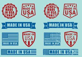 Feito em selos dos EUA vetor