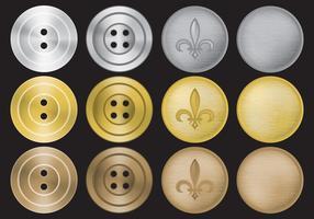 Vetores de botões antigos