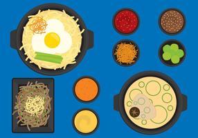 Comida coreana vetor