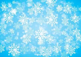 Fundo de floco de neve de inverno vetor