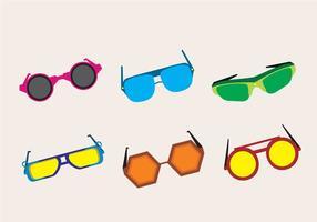 Óculos de sol da moda dos anos 80 vetor