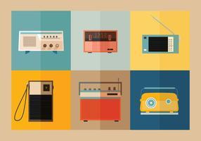 Vectores de rádio de transistor antigos vetor