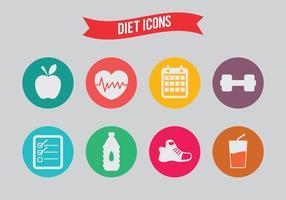 Ícones de vetor de dieta