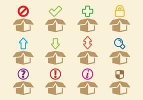 Ícones de caixas vetor