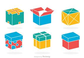 Vetor de caixa colorida