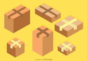 Vector de caixas de papelão isométrico